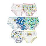 Baby Shark Girls' Toddler Underwear Multipacks, Shark 7pk, 2T/3T