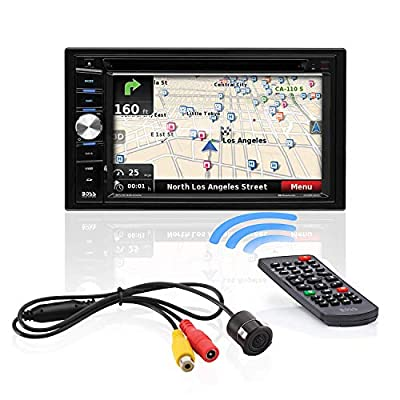 BOSS Audio Systems BVNV9384RC Car GPS Navigation and DVD Player - Double Din, Bluetooth Audio and Calling, 6.2 Inch LCD Touchscreen Monitor, MP3 CD DVD USB SD, Aux-in, AM FM Radio Receiver (Renewed)