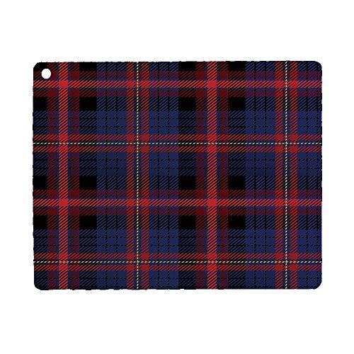 Checkered Case for iPad 9.7 2018 2017(6th Gen, 5th Gen)/iPad Air 2/iPad Air,PU Leather Case with Stand Function/Auto Sleep Wake Up Royal Blue Red Black