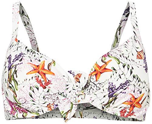 LOVABLE Parte Superiore del Bikini, Stampa Marina, 36 C Donna