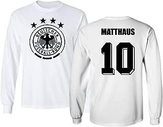 Tcamp Soccer Legends #10 Lothar MATTHAUS Jersey Style Men's Long Sleeve T-Shirt