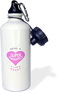 """ローズWB _ 183888_ 1"""" Being aスーパー療法が作業のheart.ピンクジョブLove Appreciation」スポーツウォーターボトル、21オンス、ホワイト"""