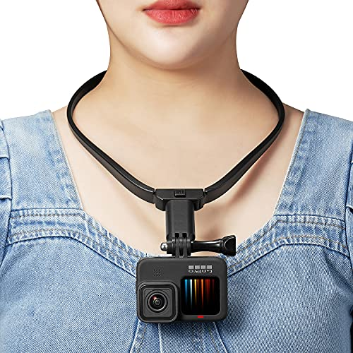 POV / VLOG Mobile Phone Selfie Neck Holder Mount Cell Adapter for GoPro Hero 9/8/7/6/5 OSMO Action AKASO Xiaoyi 4K Most Action Cameras