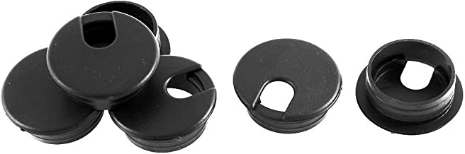 Home Mart Wiring hole cap Round type cable hole cover 35 mm Computer desk grommet table Cable outlet 6 pieces