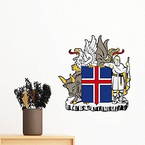 DIYthinker Islande Europe de l'emblème National Amovible Wall Sticker Art Mural Stickers DIY Papier Peint Chambre Decal 70Cm