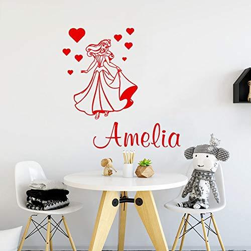 Sanzangtang Naam-slaapkamerdecoratie-schoonheid prinses cartoon en naammuurstickers interieurdecoratie sticker