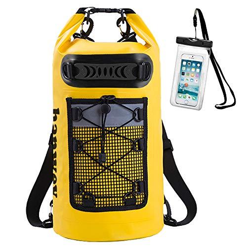 Sac étanche Sac à Dos étanche 10L 20L avec étui de téléphone étanche IPX8 pour la Voile, Le Kayak, Le...