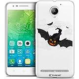 Lenovo C2 Case, Ultra Slim Halloween Bat Pumpkin Case for 5