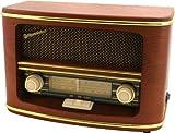 Nostalgisches Retro-Radio mit klassischer Frequenz-Anzeige im Holzgehäuse. Großer Lautsprecher mit 12 Watt Musikleistung. Beleuchtetes Display für die einfache Sendersuche auch im Dunkeln. Für Netz- und Batteriebetrieb geeignet. Batterien (6 x LR14) ...