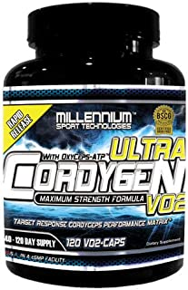 Millennium Sport Technologies Cordygen VO2 ULTRA 120 Vcaps BSCG Certified Drug Free
