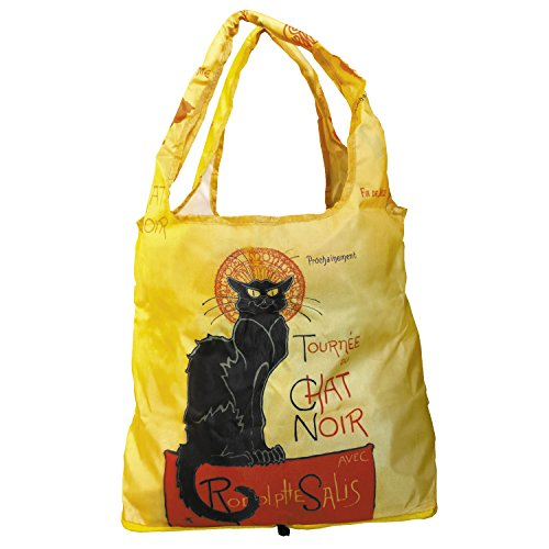 Fridolin Einkaufstasche 2 in 1 Chat Noir aus Nylon, Bunt, 16x13x4 cm