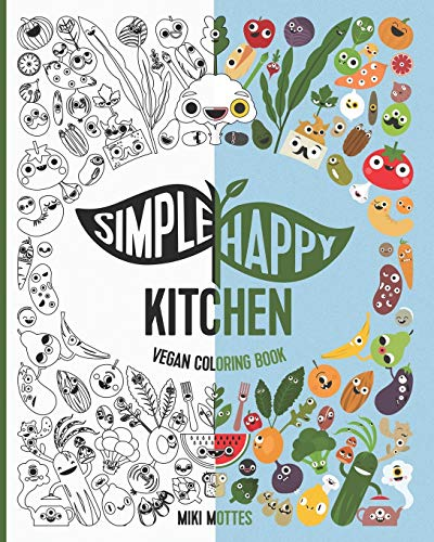 Simple Happy Kitchen Vegan Coloring Book