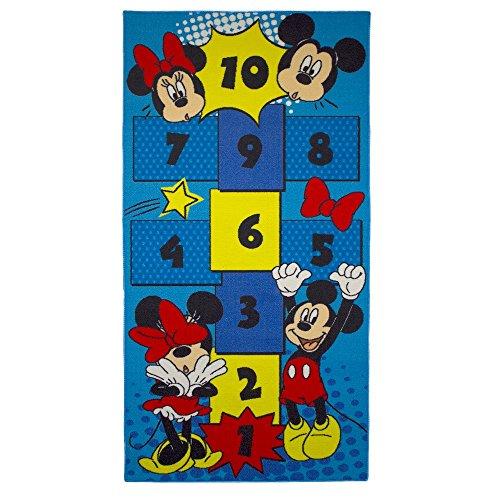 Guizmax, tappeto per bambino, Topolino e Minnie, 160x 80cm, Disney, Marelle