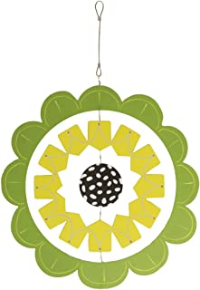 Studio M Kaleidoscope Collection Decorative Hanging Mobile, 18 x 26-inches, Green and Black