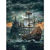 Puzzle 1000 piezas Barco del castillo del mar horrible puzzle 1000 piezas Rompecabezas de juguete de descompresión intelectual educativo divertido juego familiar para niños ad50x75cm(20x30inch)