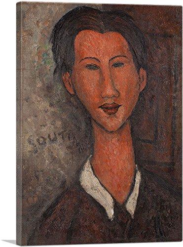 "ARTCANVAS Portrait of Soutine 1917 Canvas Art Print by Amedeo Modigliani - 18"" x 12"" (0.75"" Deep)"