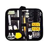 Herramientas Relojero 150 piezas de reloj de servicio de reparación Kit de herramientas de reloj de ...