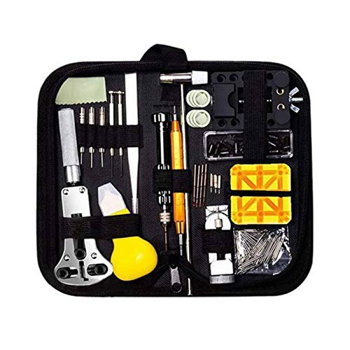 Herramientas Relojero 150 piezas de reloj de servicio de reparación Kit de herramientas de reloj de enlace Removedor Removedor de cáscara de shell Barra de resorte Removedor de barra Reloj Batería Cor