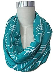 green scarf posed on a mannequin on a white background