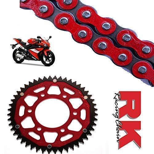 RK Racing Rot Kette und Ritzel Satz für Yamaha YZF-R125