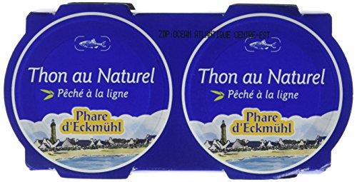 Phare D'eckmül Thon Albacore Pêché Canne Au Naturel Bio 2 X 80 G