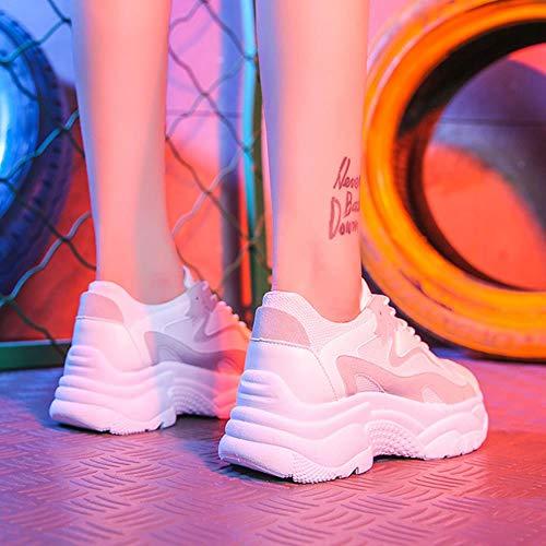Cranky Orange Damen Turnschuhe Mode Damen Plattform Papa Schuhe Chunky Sneaker Damen Schuhkorb Femme Vulkanisiere Schuhe Damen Turnschuhe, weiß, 35.5