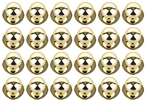 DESERMO 24x Kugelknöpfe für Kochjacken I Kochjackenknöpfe mit metallisch-glänzendem Look in gold- oder silber-farben I Made in Germany (gold)