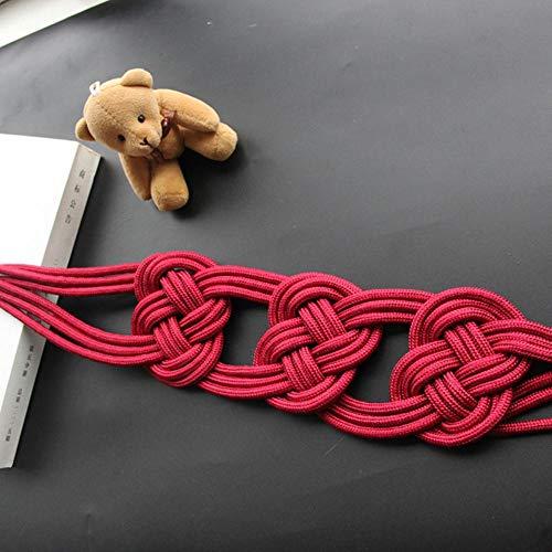 Piner 1 stks Creatieve Gordijnhouder Riem Home Decoratieve Kamer Accessoires Eenvoudige Venster Gesp Touw Handgemaakte Gordijn Tieback, Rood, 75 cm