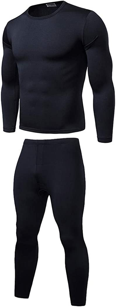 Elastic Warm Fleece Long Johns for Men,Winter Thermal Underwear Sets,Breathable Thermo Underwear Suits,Base Layer Warm