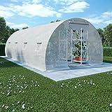 Festnight Invernaderos Jardin Casetas de Jardin Invernadero con Cimientos de Acero 18m² 600x300x200 cm