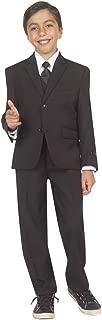 TAZIO Boys 5 piece Boy Fit Suit with Vest, Shirt & Tie