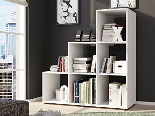 möbelando Raumteiler Treppenregal Regal Stufenregal Bücherregal Aktenregal
