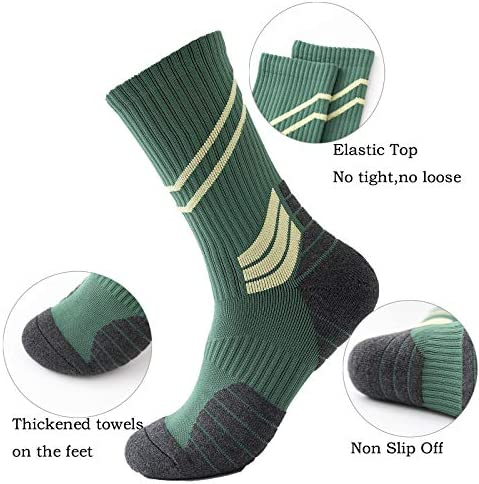 4Pack Men's Basketball Sock Cushion Athletic Long Sports Outdoor Socks Compression Sock