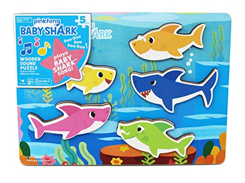 Pinkfong Baby Shark Chunky Wooden Sound Puzzle Pack in $9.99