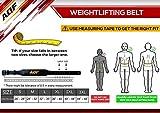 AQF Cinturon Lumbar Gimnasio para Levantamiento De Pesas De Cuero Acolchado De 4