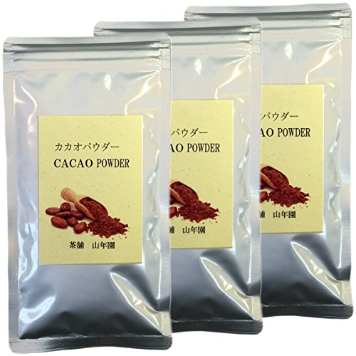カカオパウダー 100% 粉末 70g×3袋セット ペルー産 無農薬栽培 巣鴨のお茶屋さん 山年園