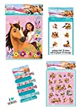 Spirit Riding Free Horse Birthday Party Favor Set for 8 Guests - Includes Loot Bags, Stickers, Tattoos and Hair Ties