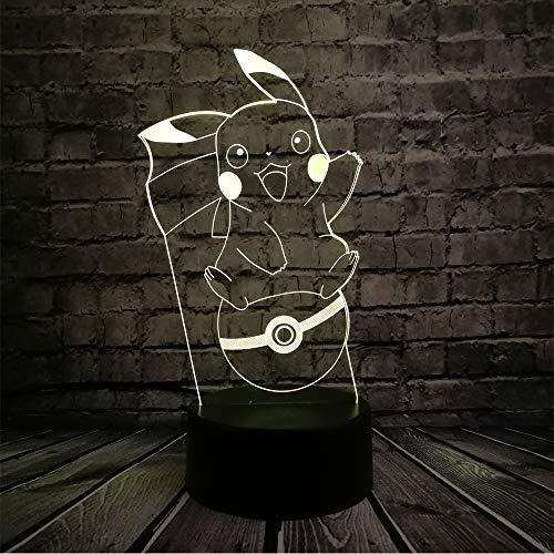 Lampara Mesilla de Noche,Luz Nocturna LED,Lámpara de Mesa,7 colores Patrón Elfo de anime,Luz del sueño Bebé,para cuarto de niños dormitorio decoración de la sala cumpleaños regalo