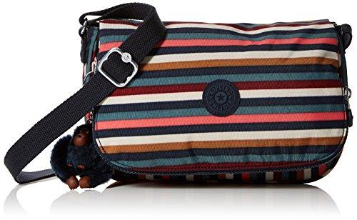 Kipling - Earthbeat S, Bolsos bandolera Mujer, Varios colores (Multi Striped), 7x26x17...