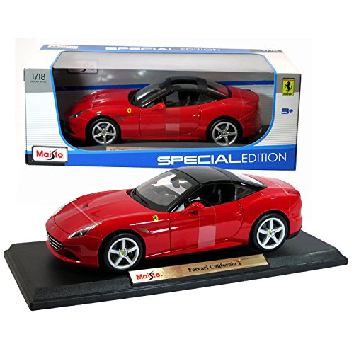 Maisto 1:18 Scale 2015 Ferrari California T Special Edition Die Cast Red Grand Touring Sports Coupe