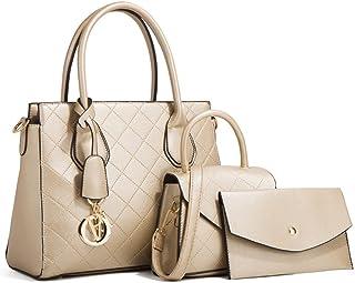 MIMITU Damen rhombische Umhängetasche aus weichem Leder im Freien Mode große Einkaufstasche lässige All-Match-Handtasche
