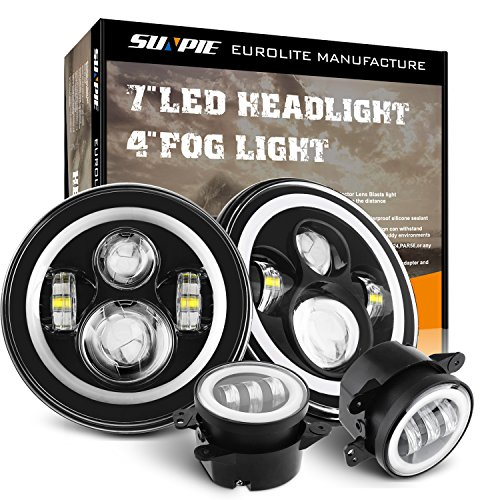 Motorcycle 4-1/2' 4.5inch LED Passing Light for Harley Davidson Fog Lamps Auxiliary Light Bulb Projector Spot Driving Lamp Headlight