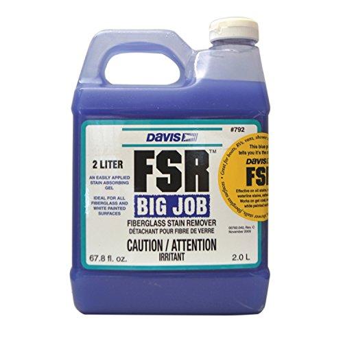 Purple jug of FSR Fiberglass Stain Remover
