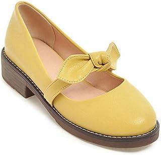 BalaMasa Womens APL11993 Pu Block Heels