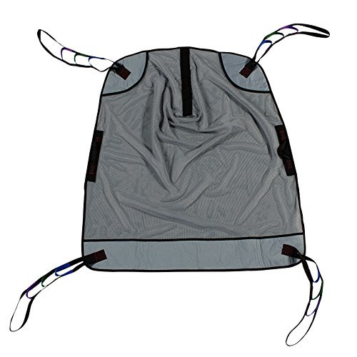 Patient Aid Bariatric Heavy Duty Full Body Mesh Patient Lift Sling, 600lb Weight Capacity (Extra Large)