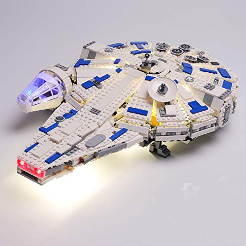 Juego de Luces LED de para Halcón Milenario de Kessel Run Modelo de Bloques de Construcción, Conjunto de Luces Lluminación Compatible con Lego 75212 (Modelo Lego no Incluido)