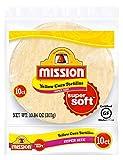 Mission Super Size Yellow Corn Tortillas, Gluten Free, Trans Fat Free, Large Soft Taco Size, 10...