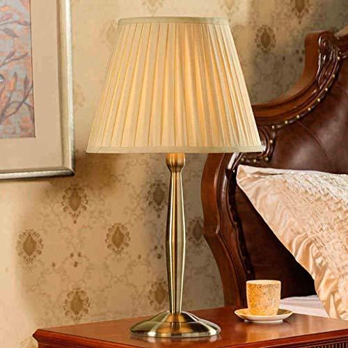 CENPEN Lámparas de mesa, personalidad simple estilo europeo Sala decorativa Lámparas de mesa, dormitorio de noche las luces de la lámpara de cobre retro creativo, exclusivo de la sala del hotel lámpar