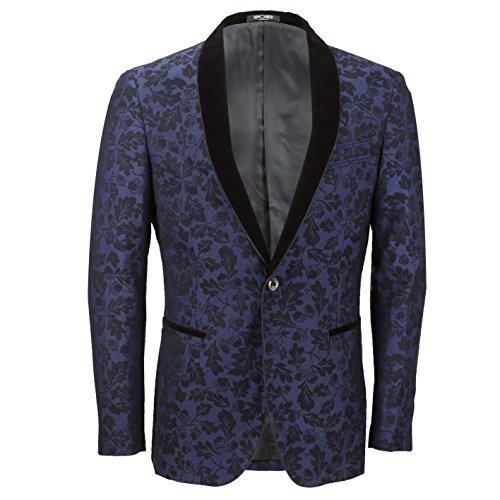 XPOSED - Giacca da abito - Paisley - Uomo Blue Petto 56