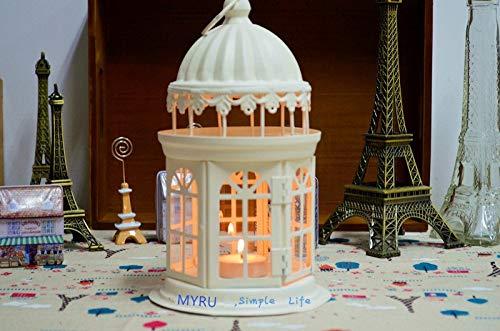 CCMOO Europese ijzeren lantaarn kaarsenhouder opknoping kasteel bruiloft lantaarns intage kandelaars kerstversiering lantaarns
